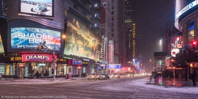 Snowy 42nd Street