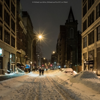 Snowy East 12th Street