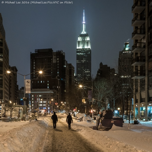Snowy Flatiron District