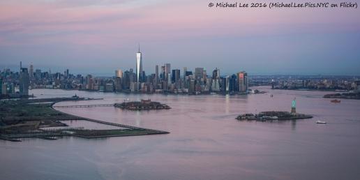New York Harbor Sunset