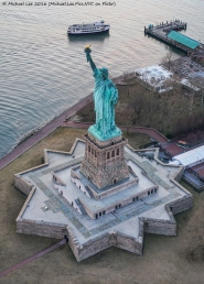 Statue of Liberty Overhead View
