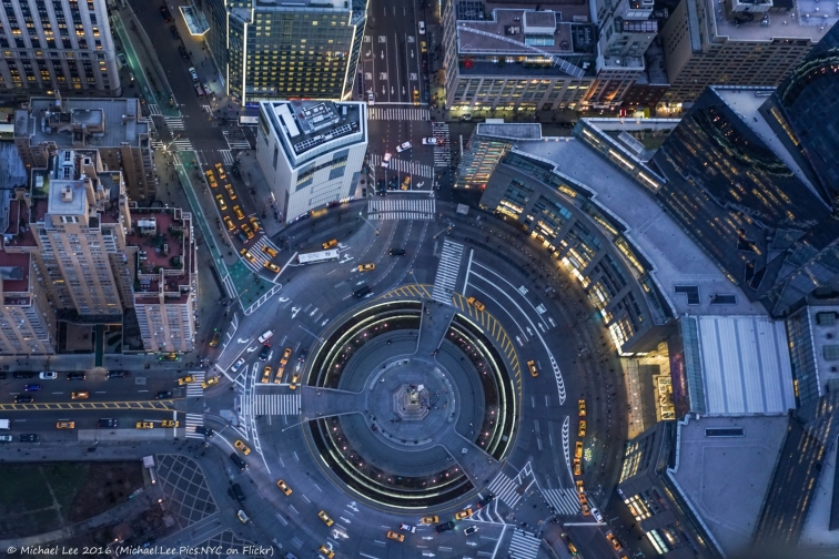 Columbus Circle Overhead View