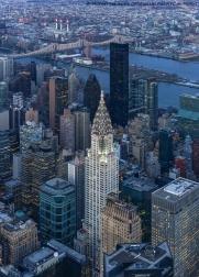 Chrysler Building with Roosevelt Island and Queensboro Bridge