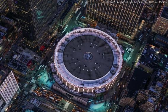 Aerial Madison Square Garden
