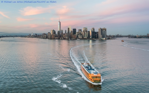 Sunset and Staten Island Ferry