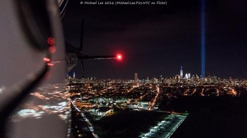 Looking back toward Lower Manhattan as we head back to the heliport in Kearny, NJ.