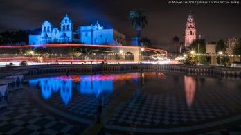 Plaza de Panama Fountain and Light Trails