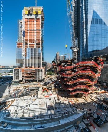 Vessel and 35 Hudson Yards viewed from The Shed