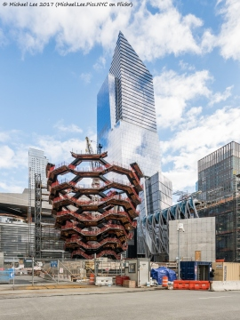 Vessel, The Shed and 10 Hudson Yards viewed from 11th Avenue