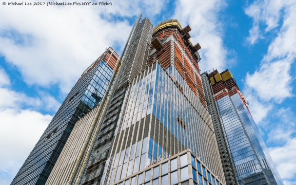 Looking up at 35 Hudson Yards from 11th Avenue