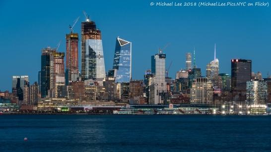 Twilight view from Hoboken, NJ