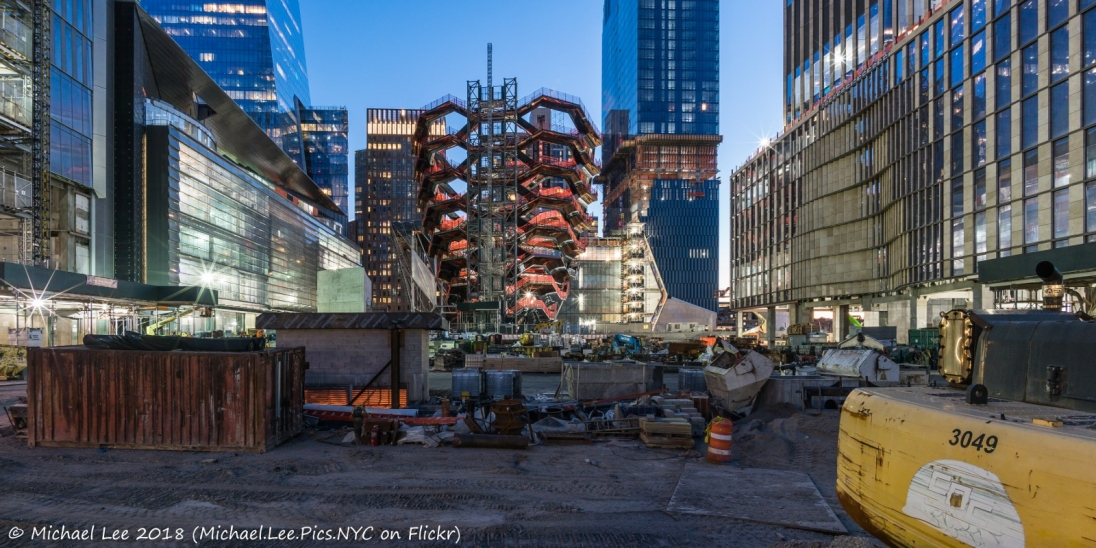 View from the 33rd Street construction fence
