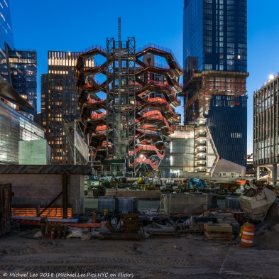 View of Vessel from the 33rd Street construction fence