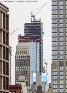 Telephoto view from Murray Hill of Nelson Tower and 30 Hudson Yards