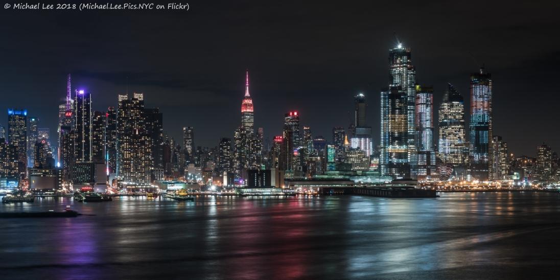 Night view from Weehwken, NJ