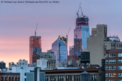 Sunset view from Astor Place