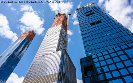 15, 35 and 55 Hudson Yards viewed from Hudson Yards Boulevard