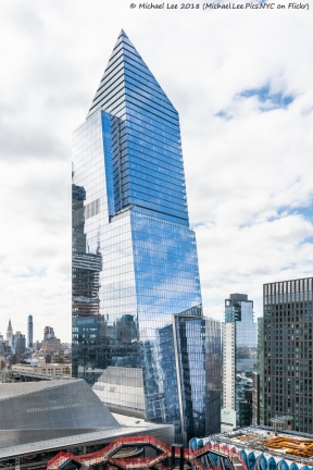 View of 10 Hudson Yards from Level 15 terrace of 35 Hudson Yards