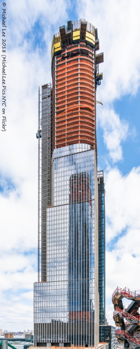 View of 35 Hudson Yards from the roof of The Shed