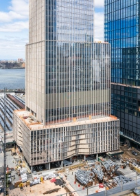 35 Hudson Yards viewed from roof of retail space