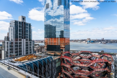 The Shed, Vessel and 15 Hudson Yards viewed from the roof of the Retail Space
