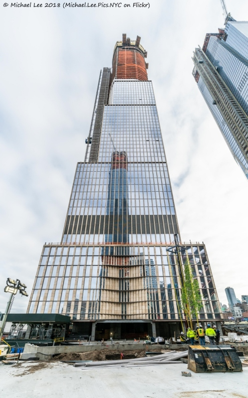 35 Hudson Yards viewed from the future Public Square and Gardens