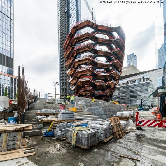 Construction of plaza around Vessel