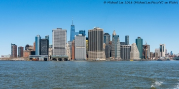 Lower Manhattan viewed from Water Taxi to Red Hook