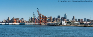 Red Hook Container Terminal and Brooklyn Cruise Terminal viewed from Water Taxi to Wall Street