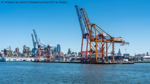 Red Hook Container Terminal viewed from Water Taxi to Wall Street