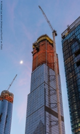 35 Hudson Yards with moon