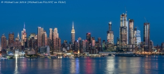 View from JFK Boulevard East in Weehawken, NJ