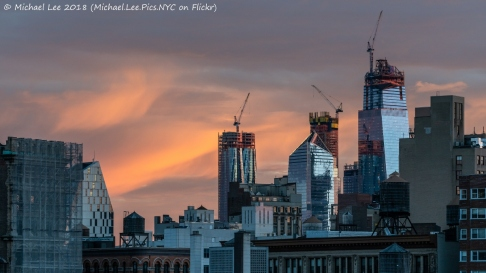 Sunrise view from Astor Place
