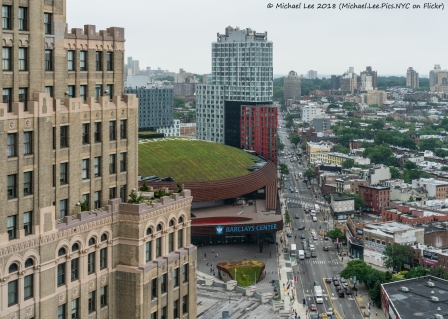 View of Barclays Center from 300 Ashland
