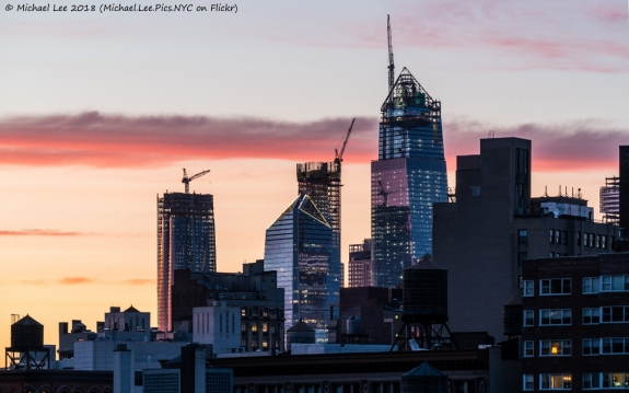 Sunset view from the East Village