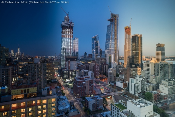 Time lapse view from the 36th floor view of the Doubletree Times Square West