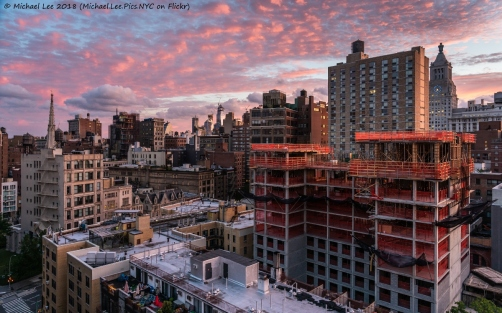 Sunrise view from the East Village