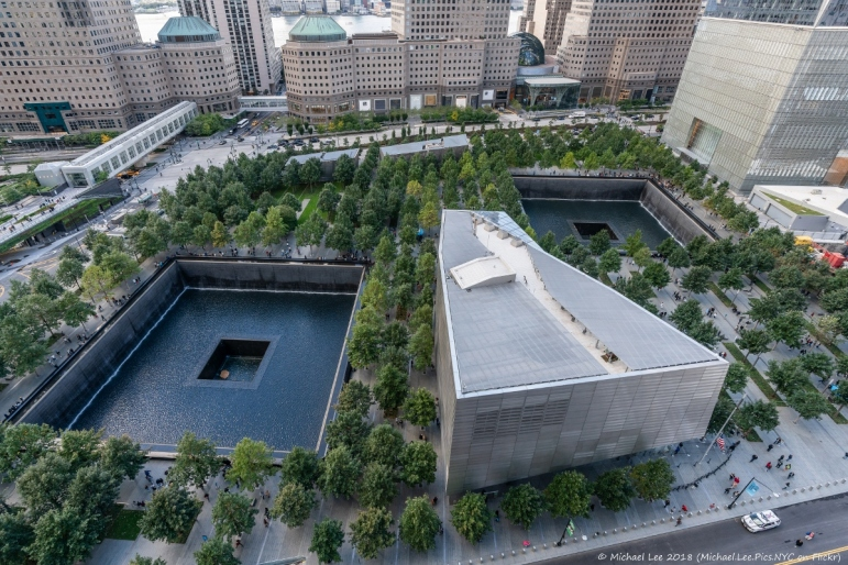 9/11 Memorial and Museum view from 3 WTC