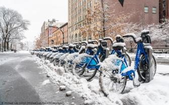 Snowy Citi Bikes